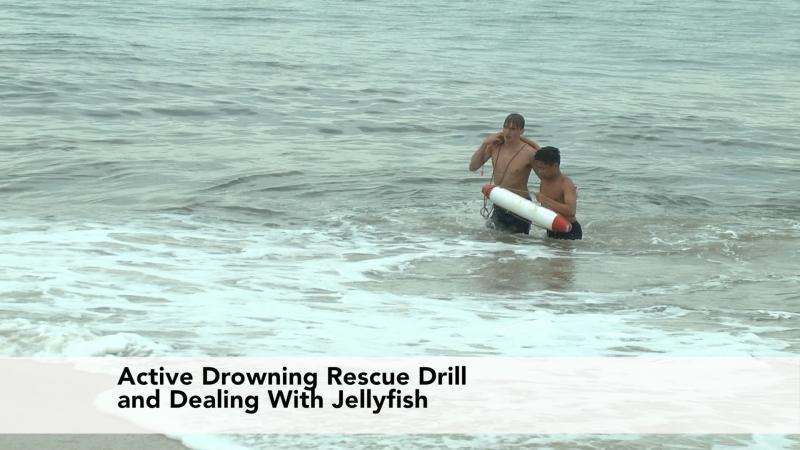 Beach Safety Lifeguards Conduct An Active Drowning Beach Rescue Drill